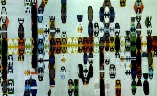 Giuseppe Capogrossi, peggy guggenheim, mostra, artista, Jackson Pollock, Lucio Fontana