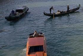 barche, canal grande, canali, traffico